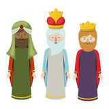 The three wisemen cartoon design Royalty Free Stock Images