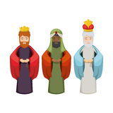 The three wisemen cartoon design Stock Photography