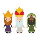 The three wisemen cartoon design. The three wisemen cartoons icon. Happy epiphany day holy night and christmas theme. Colorful design. Vector illustration Stock Photography