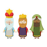 The three wisemen cartoon design. The three wisemen cartoons icon. Happy epiphany day holy night and christmas theme. Colorful design. Vector illustration Stock Photo