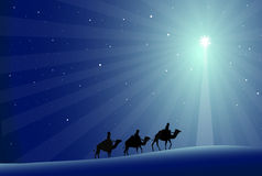 Three Wisemen & Star-Vector Stock Photos