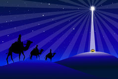 Three Wisemen & Star-Vector Royalty Free Stock Photography
