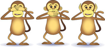 Three wishes monkey Royalty Free Stock Image