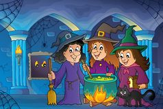 Three witches theme image 7 Royalty Free Stock Image