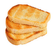 Three withe bread slice toasts isolated Royalty Free Stock Image