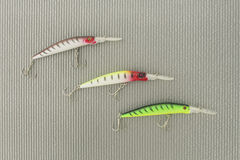 Three wobbler for fishing Stock Images