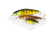 Three wobbler for fishing Stock Photography