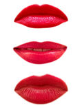 Three woman mouth isolated Stock Photography