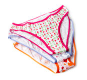 Three woman's panties Royalty Free Stock Image