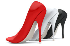 Three Woman S Shoes Royalty Free Stock Image