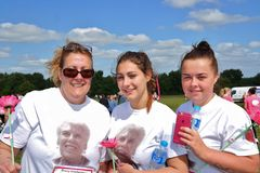 Three wome at Race For Life event Stock Image