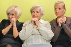 Three women. Stock Photo