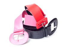 Three women belt Royalty Free Stock Photography