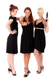 Three women black firearms Stock Image