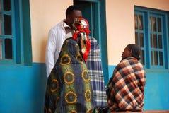 Three women in the dispensary of the village Pomerini in Tanzani Stock Photos