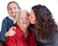 Three women generetions Stock Photo