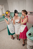Three Women Gossiping Royalty Free Stock Image
