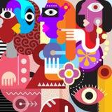 Three Women Graphic Design Stock Photography