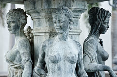 Three women Greek sculpture Royalty Free Stock Photography