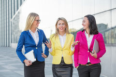 Three women having a debate Royalty Free Stock Images