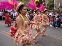 Three Women at the Parade Royalty Free Stock Image