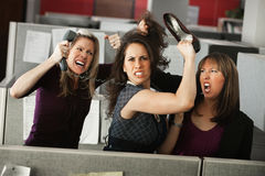 Three Women Quarreling Royalty Free Stock Images