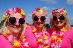 Three women at Race For Life charity event Stock Photo