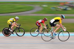 Three Women Riders - Motion Blur Royalty Free Stock Photos