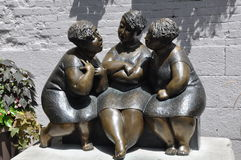 Three women sculpture in Montreal Royalty Free Stock Photo