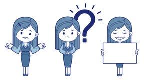 Three women is secretaries. Vector illustration Stock Image