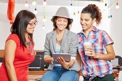 Three women in startup creative team Royalty Free Stock Image