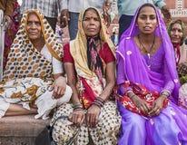 Three Women At The Taj Mahal Stock Images