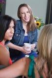 Three Women Talking Stock Photo