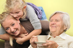 Three women - three generations. Stock Photography