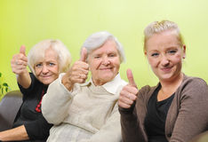 Three women - three generations. Royalty Free Stock Photo