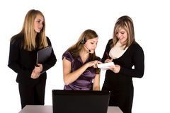 Three women working Royalty Free Stock Image