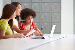 Three Women Working Together In Design Studio Stock Photography