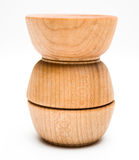 Three Wood Bowls Royalty Free Stock Photography