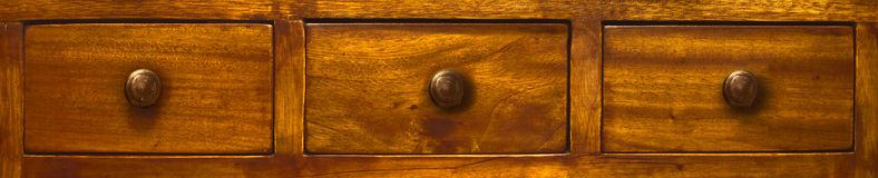 Three wood drawers Royalty Free Stock Photography