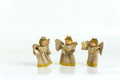 Three wooden angels Royalty Free Stock Photos