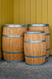 Three wooden barrels Royalty Free Stock Image