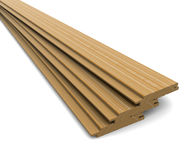 Three wooden boards Stock Images