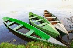 Free Three Wooden Boats Stock Photography - 8182852