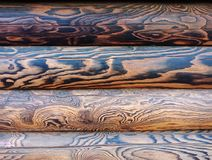 Three Wooden brown planks. stock image