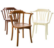 Three wooden chairs royalty free stock photography