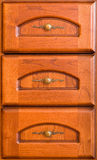 Three wooden drawers Royalty Free Stock Image