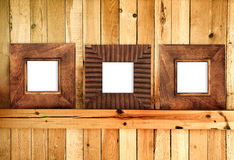 Three wooden frames Stock Image