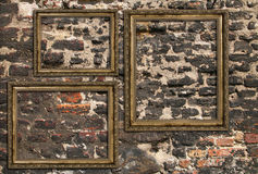 Three wooden frames Royalty Free Stock Photography