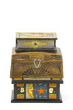 Three wooden jewellery boxes Stock Images