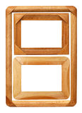 Three Wooden Photo Frames Stock Photo